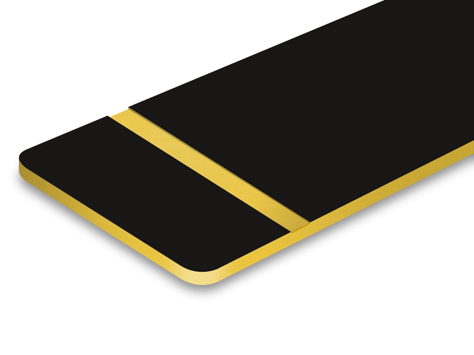 Schwarz/Gold